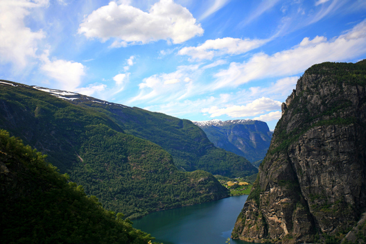 A fjord near Flåm, Norway