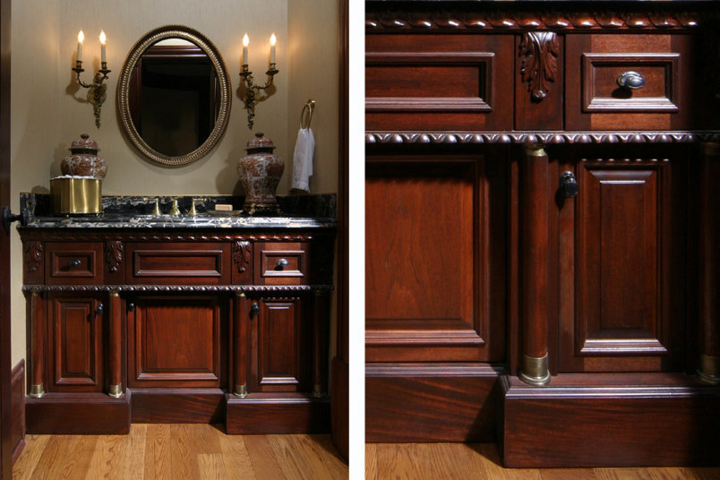 Left: Custom Vanity Right: Detail
