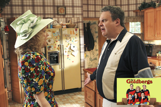"THE GOLDBERGS - ""The Facts of Bleeping Life"" - With Prince Charles and Lady Di's wedding approaching, Beverly gets the idea for her and Murray to renew their vows. But with Murray's complete lack of interest, will Beverly lose her chance at a second wedding? Meanwhile, Barry hopes his and Adam's garage band will get Erica's best friend, Lainey, to notice him again, on ""The Goldbergs,"" WEDNESDAY, OCTOBER 8 (8:30-9:00 p.m., ET) on the ABC Television Network. (ABC/John Fleenor)