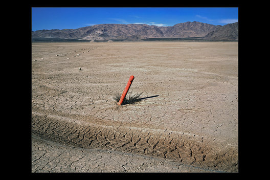 pipe in dry lakebed, Lucerne Valley