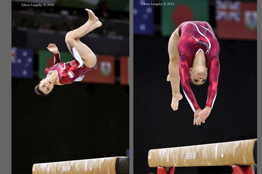 England's Claudia Fragapane competing on balance beam during the Gymnastics competition of the 2014 Glasgow Commonwealth Games.