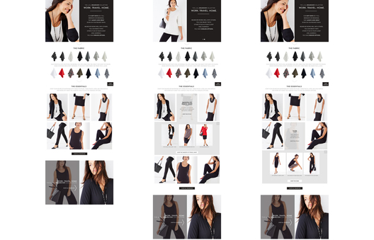 Introduced New Interactive Sub-Brand Category Page displaying fabrics and how-to intermix pieces for different wardrobing outfits.