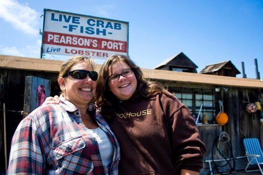 Mother and daughter duo and floating fish port owners, Terese and Carley Pearson