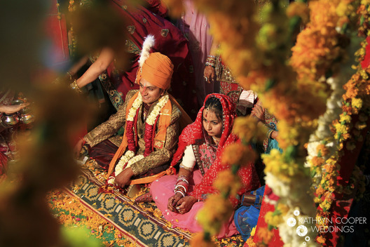 Wedding ceremony in India, rajasthan, karnataka wedding prep for bride and groom at destination wedding india