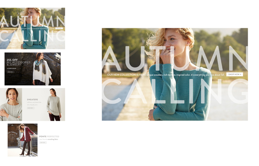 Fall '15 Launch Homepage – test versions with single and multiple image homepage
