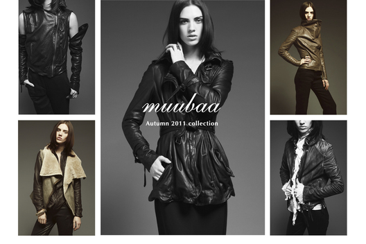 Lookbook, press invites, postcards and art direction for a fashion house specialising in leather clothing.