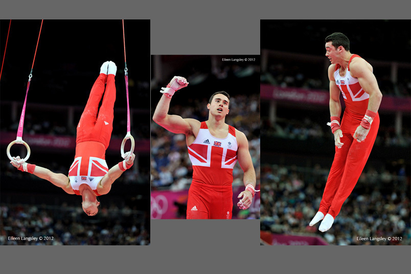 Kristian Thomas (Great Britain) competing on Rings during the Artistic Gymnastics competition of the London 2012 Olympic Games.