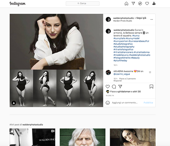 La pagina Instagram di Walden Photo Studio