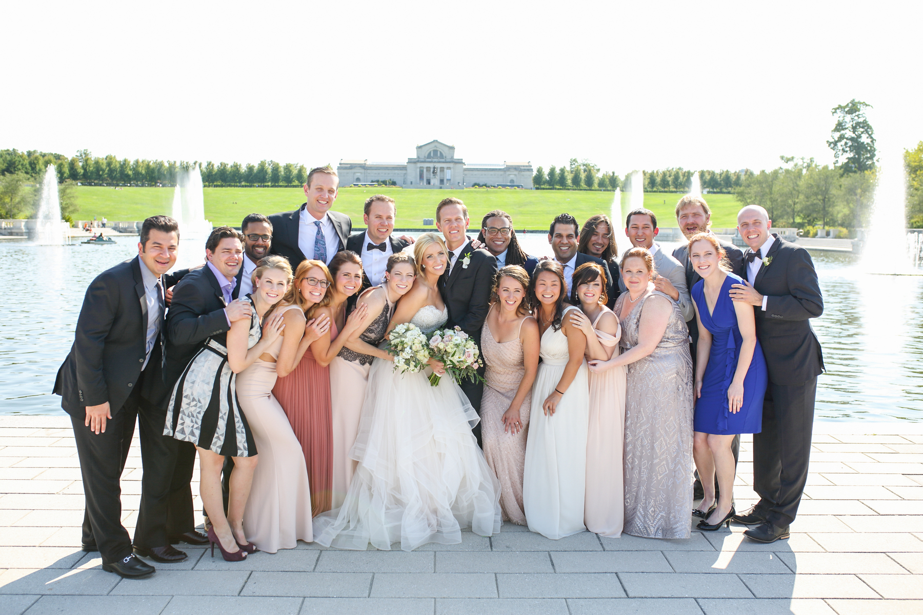 forest park st. louis fountain wedding party