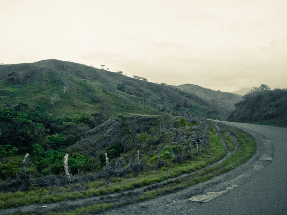 Honduras landscape and road