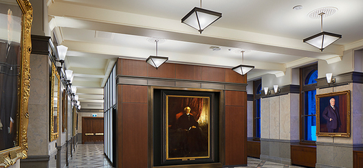 Design and manufactured solid bronze corridor pendants and sconces with custom blown glass and high output dimmable LED engines