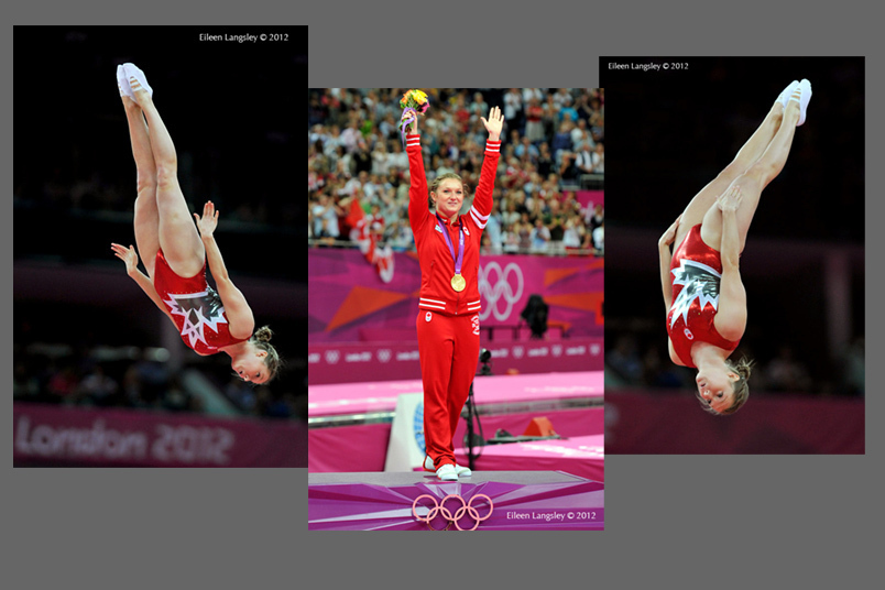 Roseannagh MacLennan (Canada) Gold medallist in the women's Trampoline competition at the 2012 London Olympic Games.