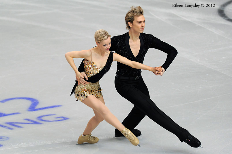 Penny Coomes and Nick Buckland (Great Britain) competing in the Dance event at the 2012 European Figure Skating Championships at the Motorpoint Arena in Sheffield UK January 23rd to 29th.