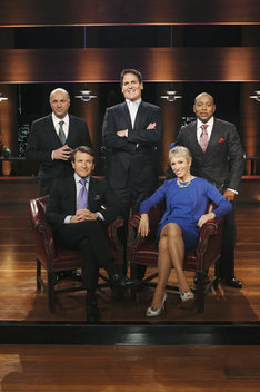 "SHARK TANK - ""Shark Tank"" is the the critically-acclaimed reality series that gives budding entrepreneurs a chance to make their dreams come true and become successful -- and possibly wealthy -- business people. The aspiring entrepreneurs must first try to convince five tough, multi-millionaire tycoons to part with their own hard-earned cash and give them the funding they need to jumpstart their business ideas. Enter the Sharks of ""Shark Tank,"" self-made successful business people whose own entrepreneurial dreams came true. The Sharks in ""Episode 205"" are Barbara Corcoran (seated right), Mark Cuban (middle), Robert Herjavec (seated left), Daymond John (right) and Kevin O'Leary (left).  (ABC/CRAIG SJODIN)"