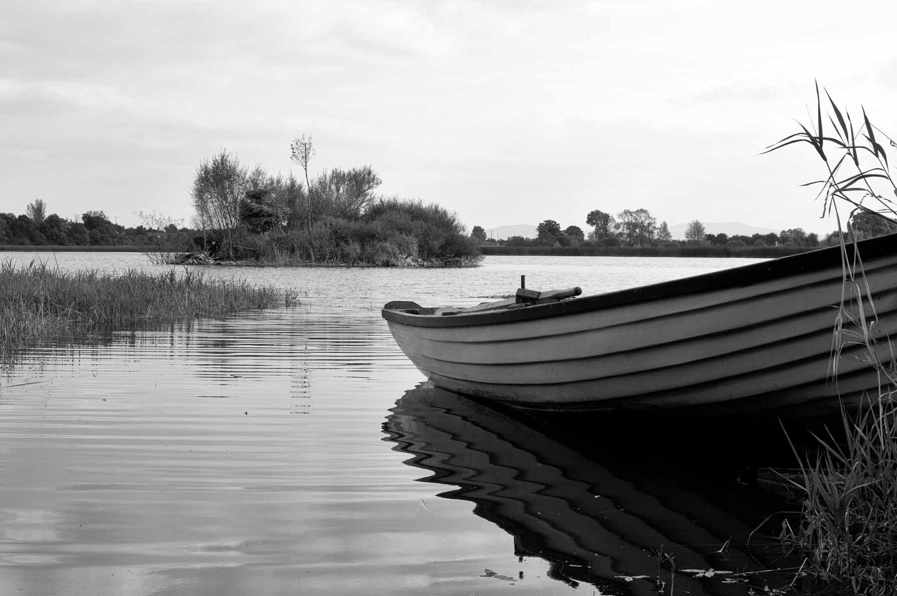 Boat at the Edge of a Lake in Southern Ireland in 2009