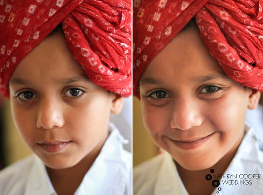 young boy in rajasthan with turban for indian wedding in india