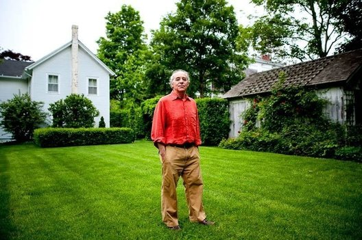 Author Alan Furst at his studio / home in Sag Harbor, NY