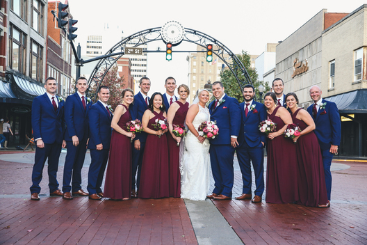 downtown evansville in wedding party