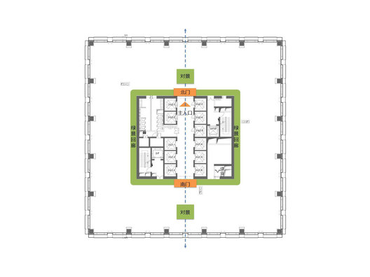 Plan of a contemporary modern corporate image office interior in Beijing designed by Singapore's office designer, AND lab, for Xin Yi Zhi Cheng, a film making company .