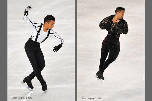 Florent Amodio (France) competing in the short and long programme at the 2012 ISU Grand Prix Trophy Eric Bompard at the Palais Omnisports Bercy