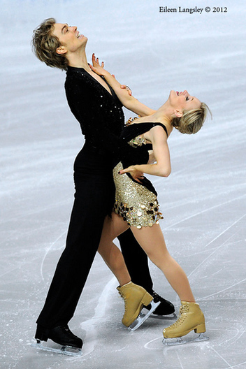 Penny Coomes and Nick Buckland (Great Britain) competing the Dance event at the 2012 European Figure Skating Championships at the Motorpoint Arena in Sheffield UK January 23rd to 29th.