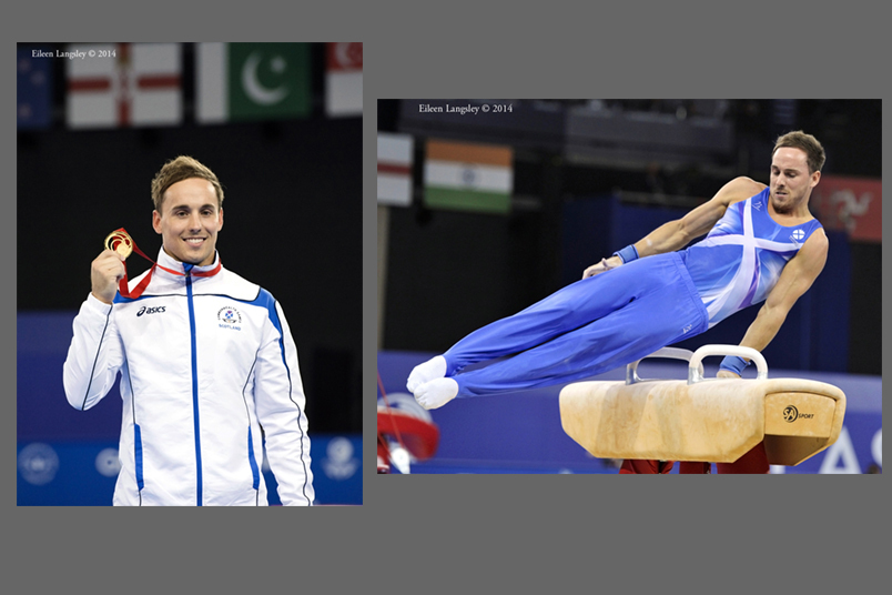 Daniel Keatings (Scotland) wins the gold on Pommel Horse at the Gymnastics competition of the 2014 Glasgow Commonwealth Games.