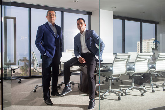 Jose Feliciano and Behdad Eghbali of Clearlake Capital Group, photographed in their headquarters, Santa Monica, CA, October 17 2019.