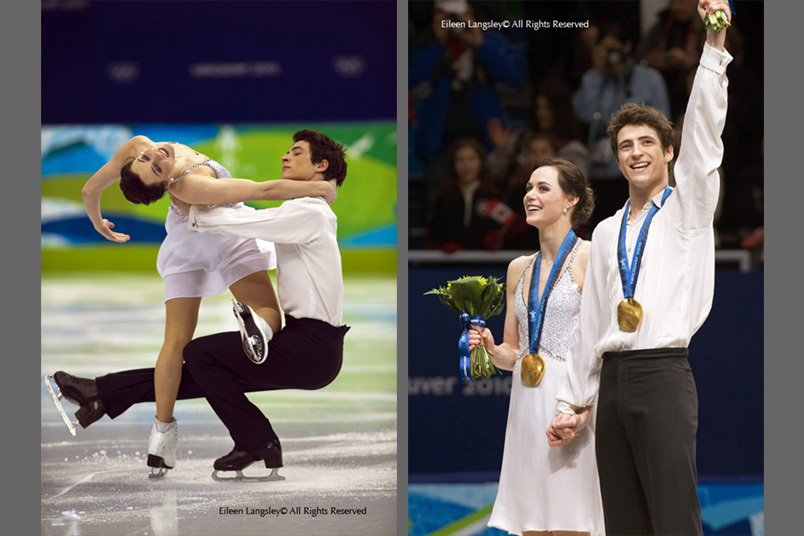 Canada's Tessa Virtue and Scott Moir win the Ice dance gold medal with scores putting them well ahead of their rivals.