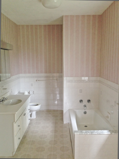 Originally a  5 bedroom 1.5 bath home. This is the existing shared full bath which was renovated to become the master bath and and a new shared bath was placed in an adjacent closet.