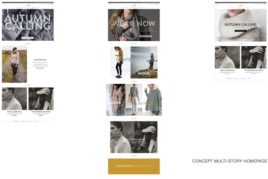 Concept Fall '15 Launch Homepage – test versions with single and multiple image homepage