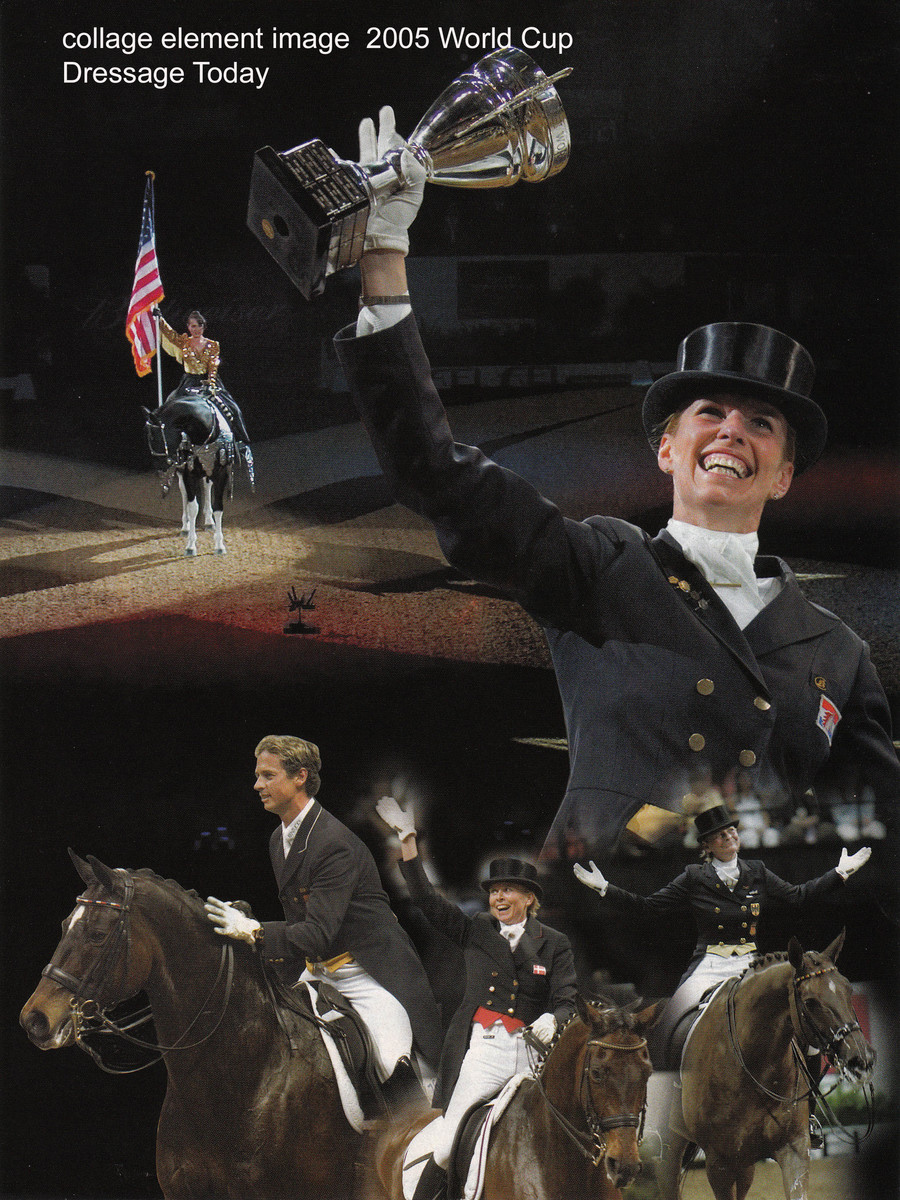 Dressage Today, one of my images helped make this collage coverage of 2005 World Cup Vegas