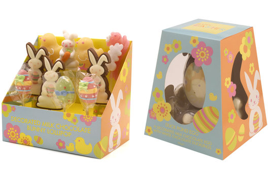Seasonal graphics for Easter for a range confectionery and promotional decor.