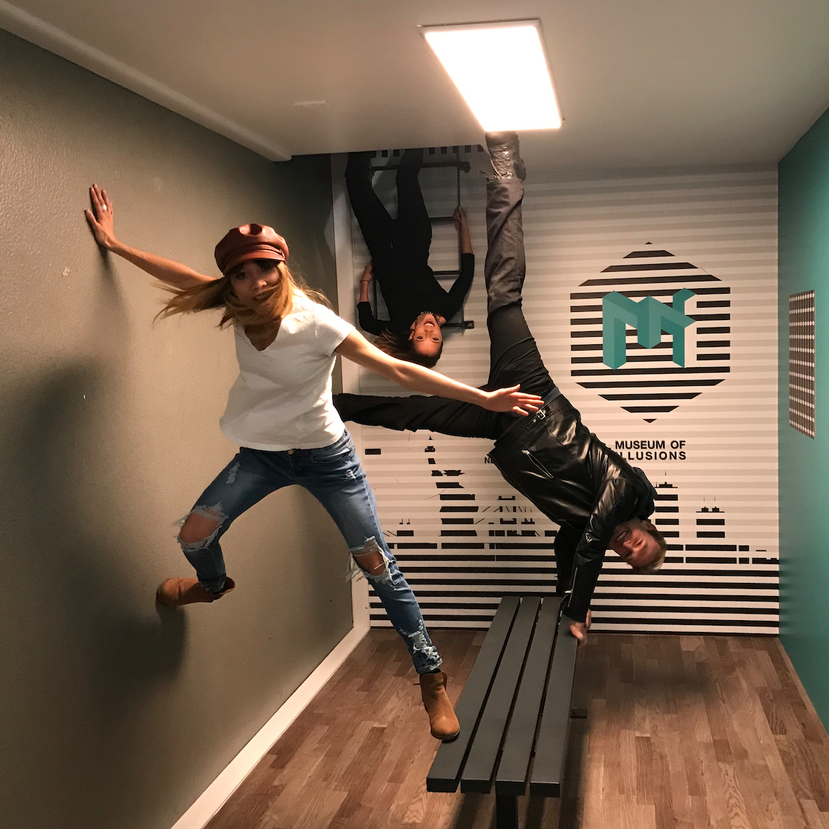 Nalani & Sarina with Derek Brad Museum of Illusions New York, NY March 3, 2019