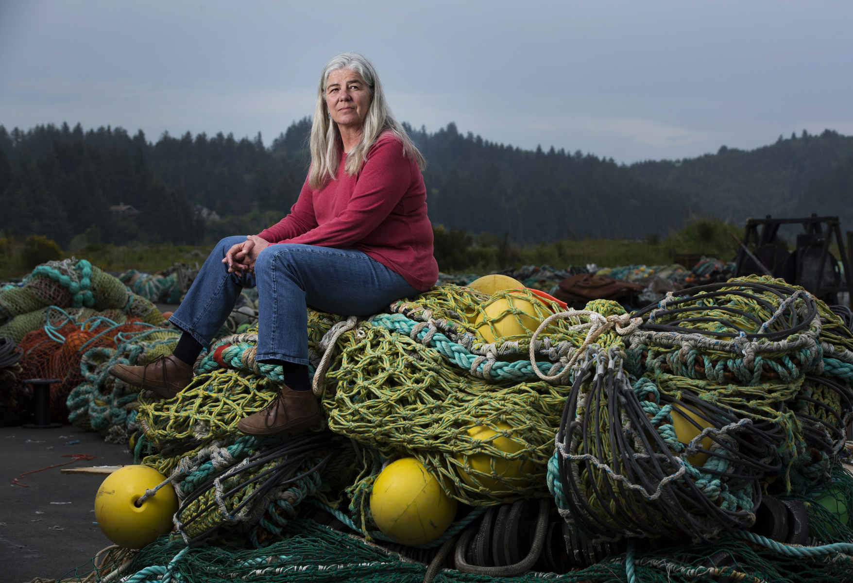 Fishing net manufacturer Sara Skamser, Newport, Oregon
