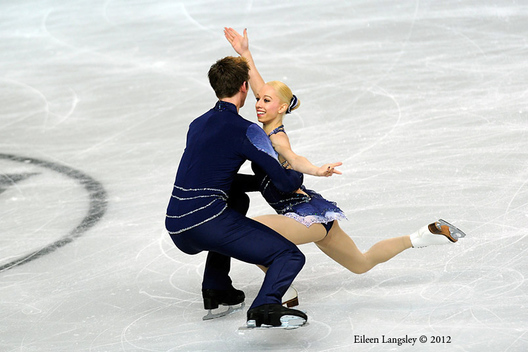 Stacey Kemp and David King (Great Britain) competing in the Pairs event at the 2012 European Figure Skating Championships at the Motorpoint Arena in Sheffield UK January 23rd to 29th.