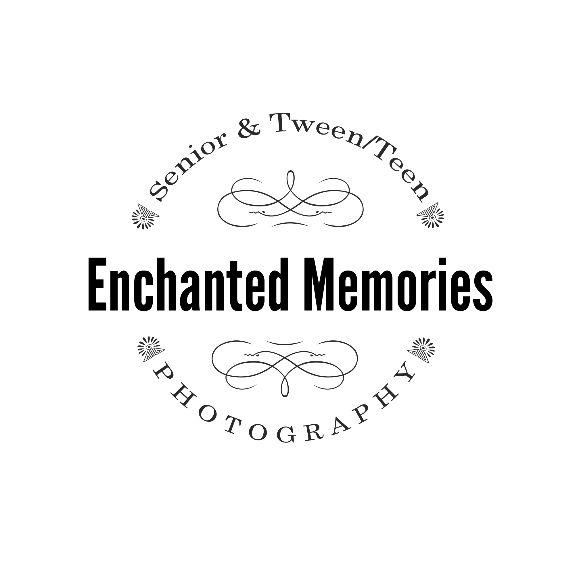 Enchanted memories photography modern metro detroit photographer logo