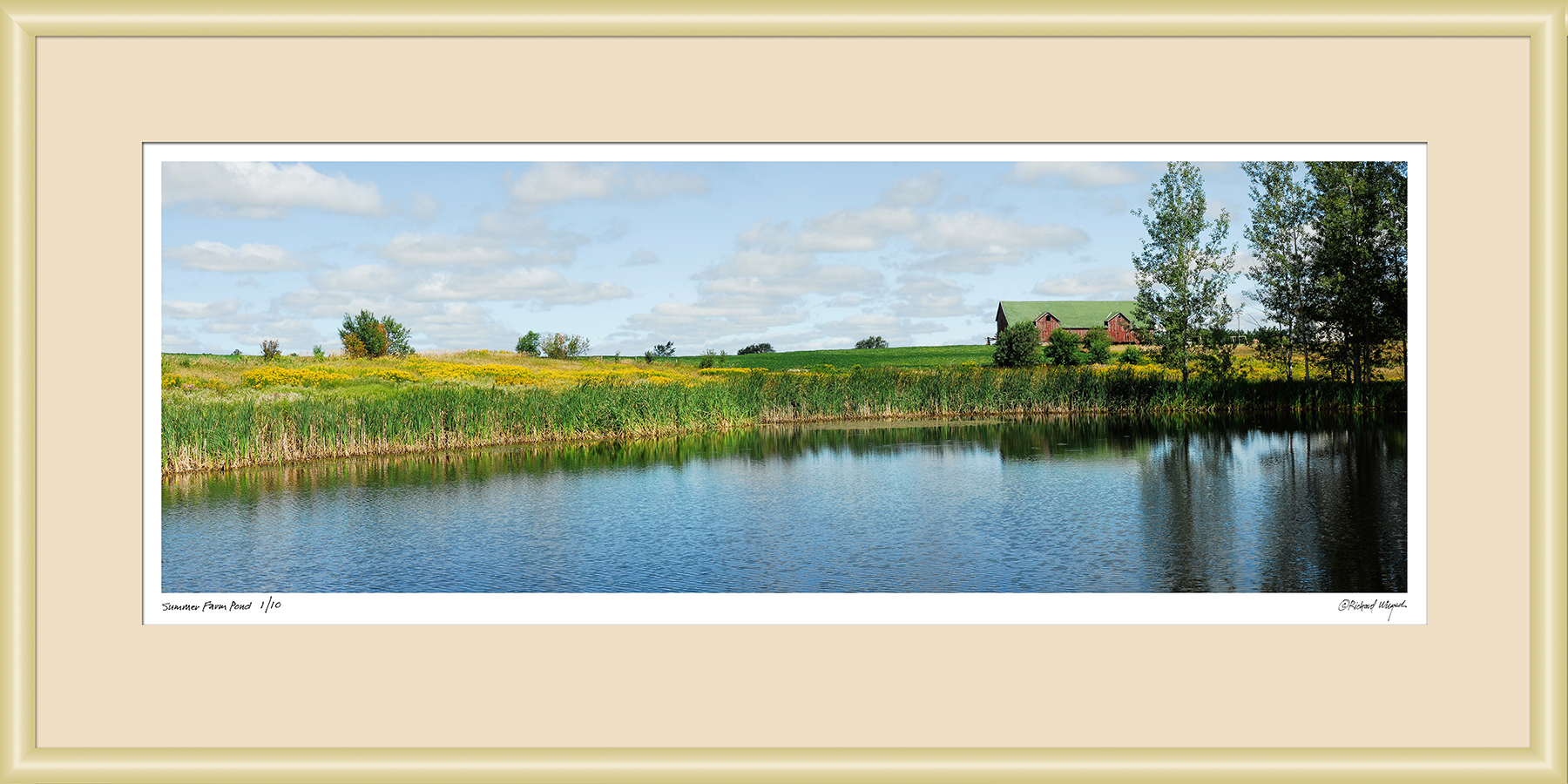 Summer-Farm-Pond-Framed