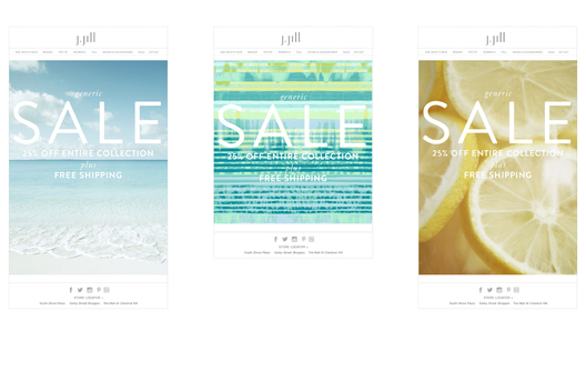 Introduce New Design, Typography and Ethereal Imagery for promotional emails.