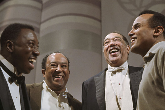 Joe Williams, Langston Hughes, Duke Ellington, Harry Belafonte