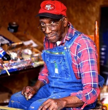 Self-taught Folk Artist. He passed away at the age of 97 in 2007.