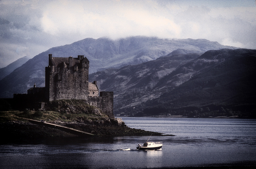 Eilean Donan Castle at Dusk, Scottish Highlands