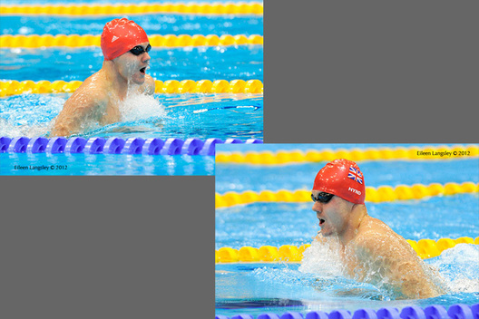 Sam Hynd (Great Britain) in action at the swimming competition of the London 2012 Paralympic Games.