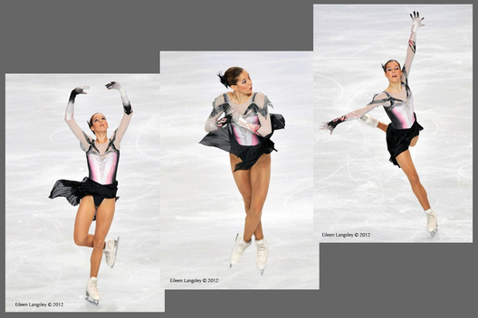 Polina Korobeynikova (Russia) competing in the long programme at the 2012 ISU Grand Prix Trophy Eric Bompard at the Palais Omnisports Bercy