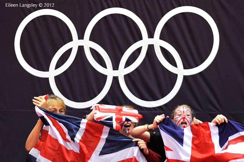 British spectators show their support at the London 2012 Olympic Games.