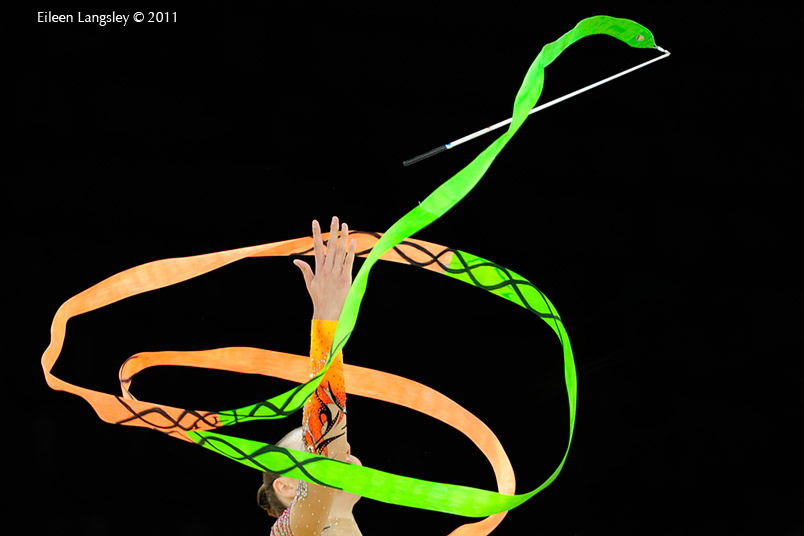 A Generic images of a gymnast competing with Hoop.