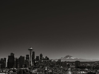 Seattle and Mount Rainier from Kerry Park.