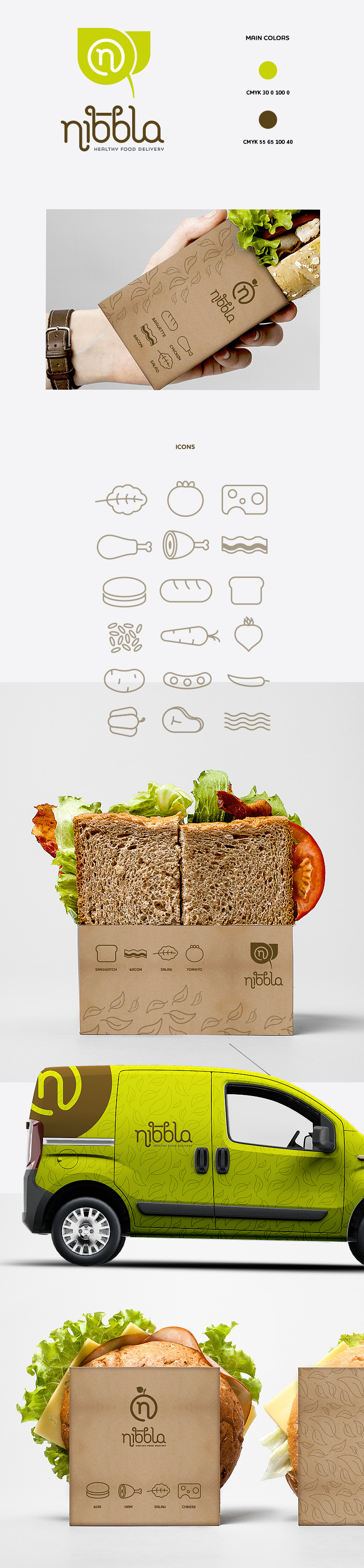 A full corporate design for food company Nibbla by goopanic