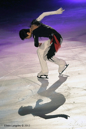 Nan Song (China) performing in the Exhibition Gala at the 2012 ISU Grand Prix Trophy Eric Bompard at the Palais Omnisports Bercy