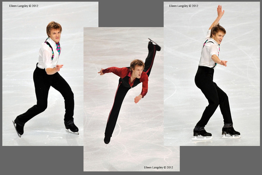Tomas Verner (Czech Republic) competing at the 2012 ISU Grand Prix Trophy Eric Bompard at the Palais Omnisports Bercy