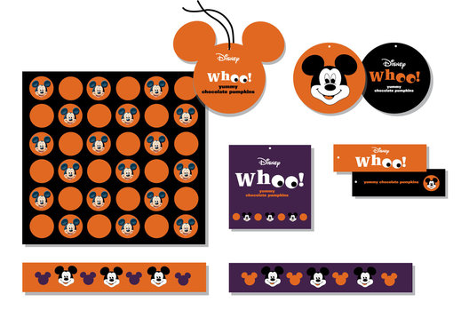 A Halloween identity for Mickey Mouse for use across a wide range of food gifts, 
